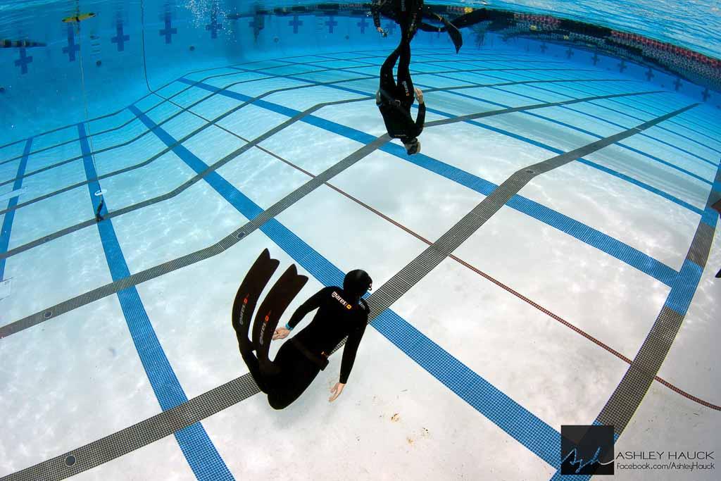La Jolla pool training during freediving course.