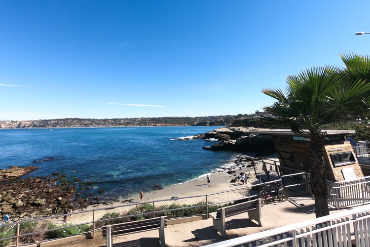 La Jolla Cove Beach.