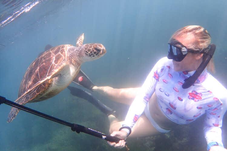La Jolla Cove snorkel selfie.