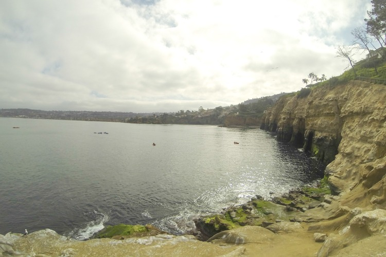 San Diego sea caves snorkeling area.